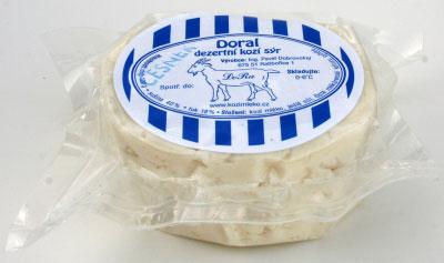Doral - dezertní kozí sýr s příchutí česneku